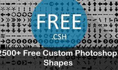 2500+ Free Custom Photoshop Shapes Free download